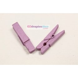 Pince décorative Lilas (x12)