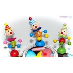 Figurine Clown sur aimant (x6)